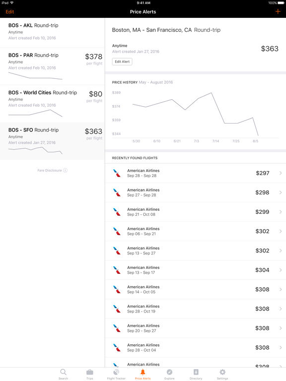 Screenshots of KAYAK Flights, Hotels & Cars for iPad