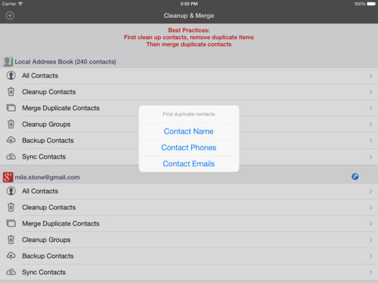 how to delete duplicate contacts on iphone icloud