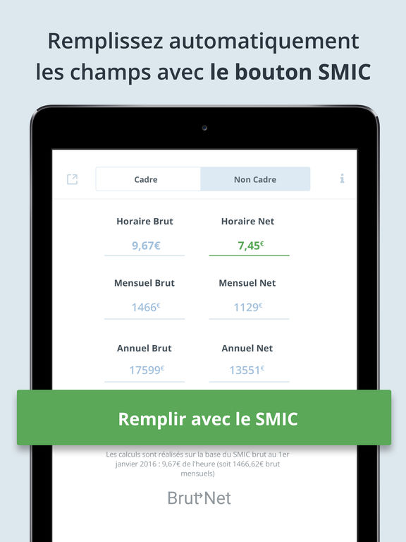 app shopper calcul salaire brut net 2016 finance