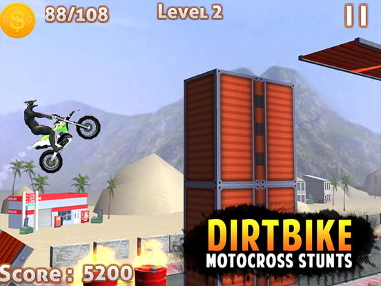 DIRT BIKE MOTOCROSS STUNTS -FREE DIRT BIKE 3D GAMEscreeshot 5