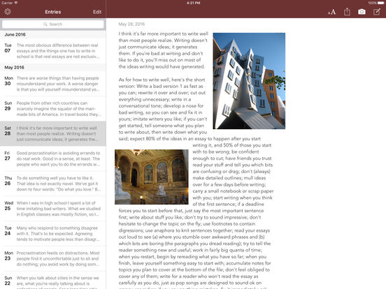 Chronicle for iPad - A personal journal iPad Screenshot 4