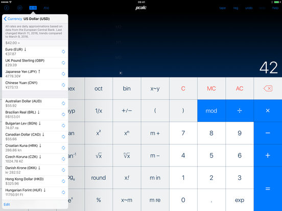 PCalc RPN Calculator iPad Screenshot 3
