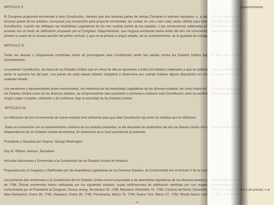 La Constitución de los Estados Unidos en Audiolibro iPad Screenshot 1