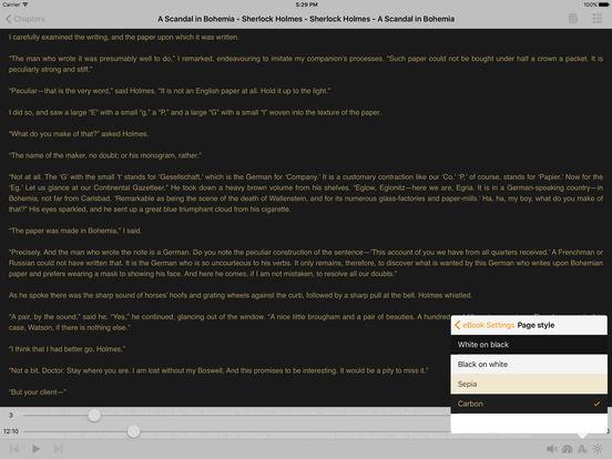 A Scandal in Bohemia - Sherlock Holmes iPad Screenshot 1