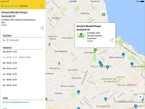Páginas Amarillas Argentina iPad Screenshot 3