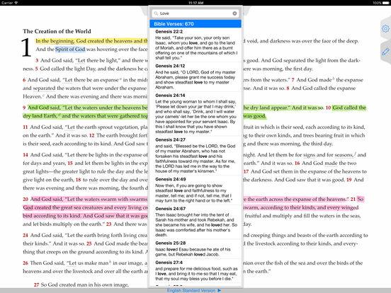 The ESV Bible iPad Screenshot 2