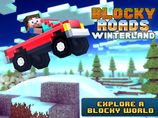 Blocky Roads Winterlandscreeshot 1