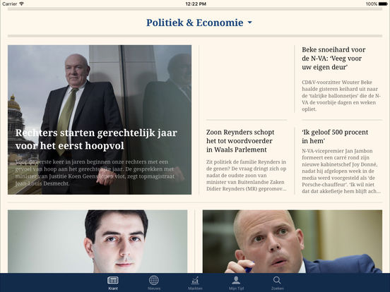 De Tijd iPad Screenshot 2