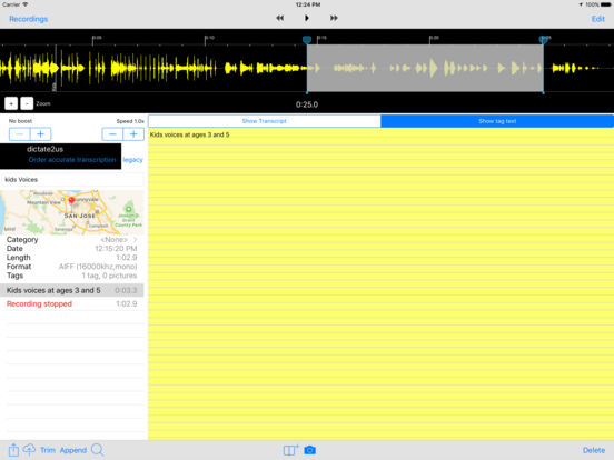 Smart Recorder 7 - the voice recorder and transcriber screenshot