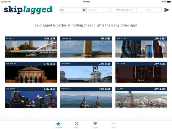 Skiplagged — Actually Cheap Flights & Hotels screenshot