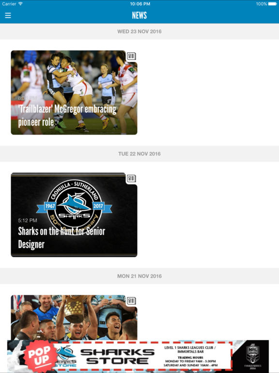 Official Cronulla Sharks On The App Store