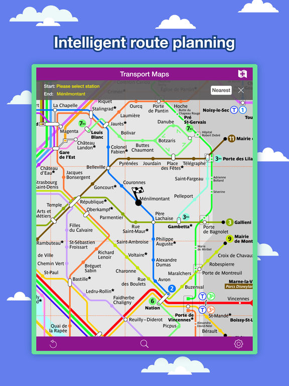 Paris Transport Map - Metro Map and Route Planner Screenshots