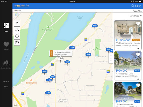 MN Home Search - TheMLSonline.com Real Estate - Minnesota MLS Search iPad Screenshot 1