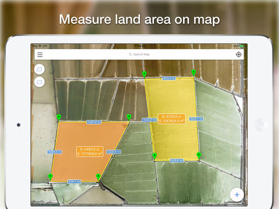 Planimeter pro - Measure area and distance on map Screenshots