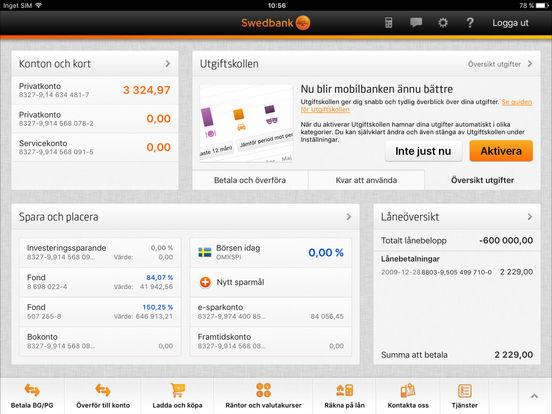 Swedbank iPad Screenshot 2