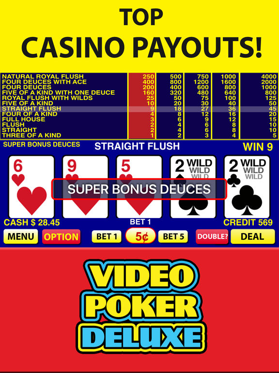 free casino video poker games
