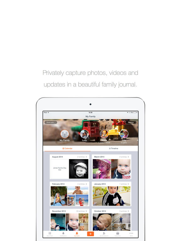 23snaps - Family Album and Private Photo Sharing screenshot