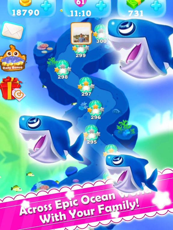 Charm fish mania best king of crush heroes games on the for Fish mania game