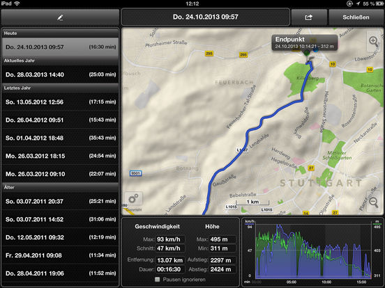 GPSSpeed HD, the GPS tool with speedo, altimeter Screenshots