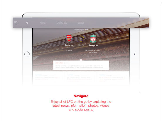 Liverpool FC Match & News Centre iPad Screenshot 1