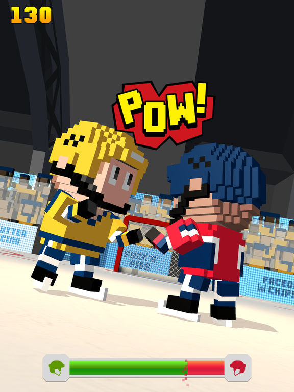 Blocky Hockey - Arcade Ice Runner