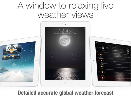 Living Weather HD free: National forecast with Animated background screenshot