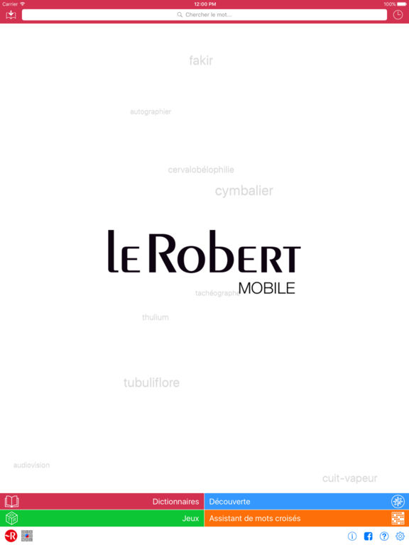 Dictionnaire Le Robert Mobile : 4 en 1 Screenshots