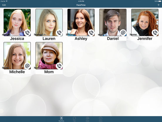 FaceDial ~ Facetime Photo Dialer iPad Screenshot 2
