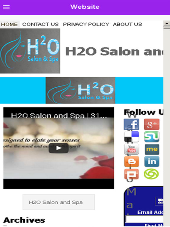 H2O Salon and Spa:在 App Store 上的内容