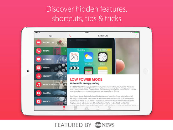 Tips & Tricks - iPhone Secrets Lite iPad Screenshot 1