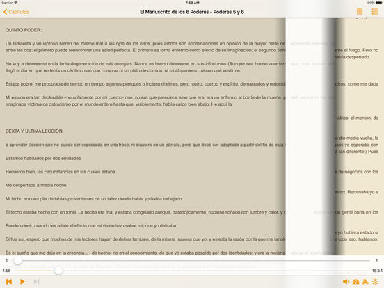 El Manuscrito de los 6 Poderes iPad Screenshot 2