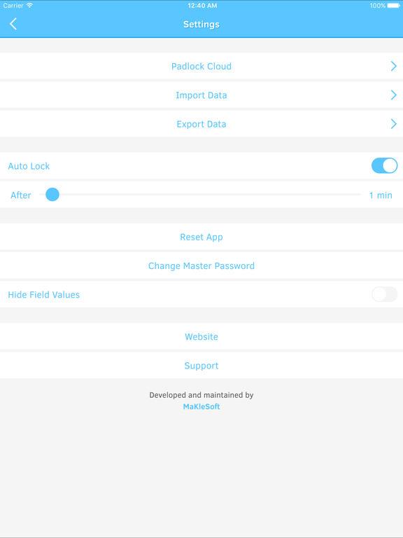 Padlock - A Minimalist Password Manager Screenshot