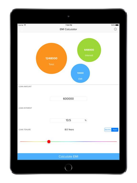 Loan Emi Calculator Bank Amp Simple Emi Made Easy:在 App