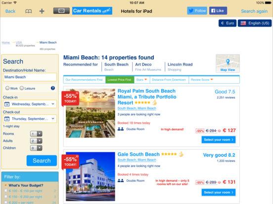 Hotels for iPad iPad Screenshot 4