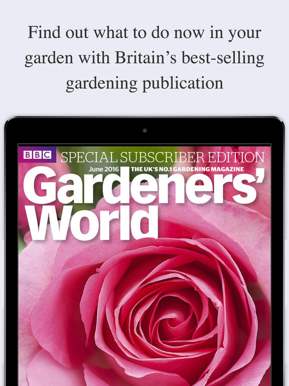iPad Screenshot 1. BBC Gardeners  39  World Magazine on the App Store