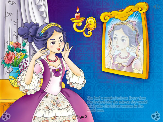 Snow White-Interactive Book-iBigToy iPad Screenshot 2