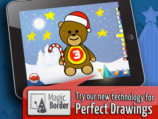 Christmas - Color Your Puzzle and Paint the Characters of Christmas - Coloring, Drawing and Painting Games for Kids iPad Screenshot 2