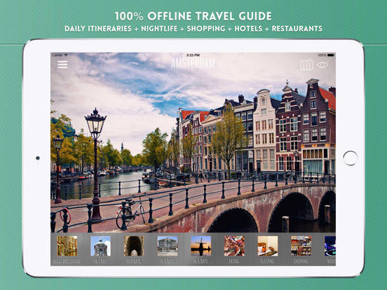 Amsterdam Travel Offline iPad Screenshot 1