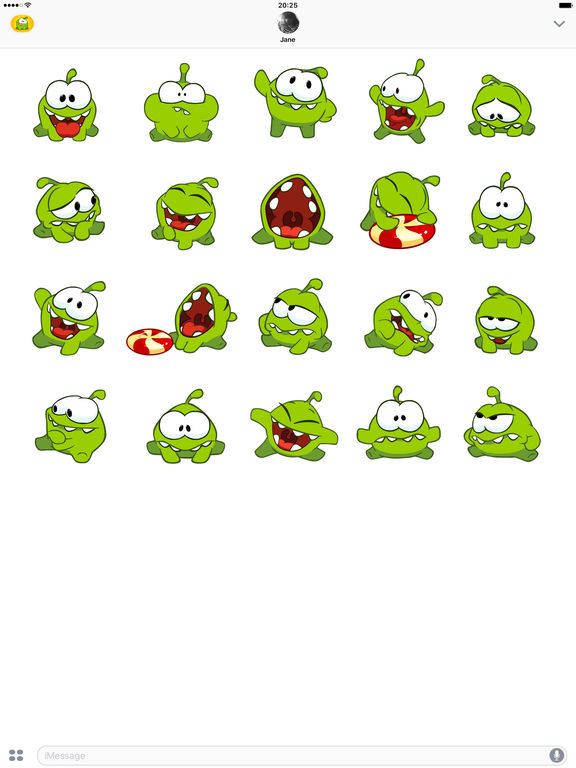Om Nom Stickers Скриншоты3