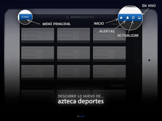 Azteca Deportes iPad Screenshot 1