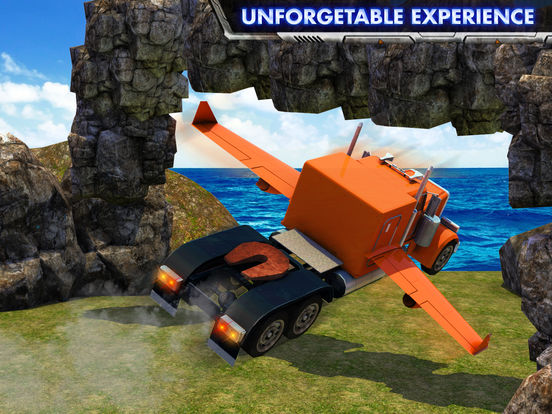 Скачать Modern Flying Truck Sim 3D