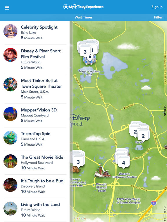 My Disney Experience - Walt Disney World screenshot