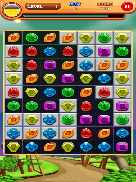Jewels Match Crush Pop:A classic jewel match 3 time killer casual game Screenshots