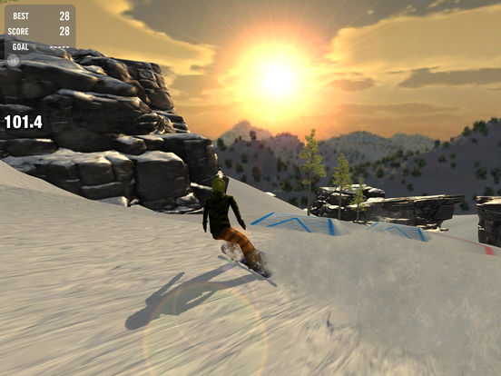Crazy Snowboard iPad Screenshot 5