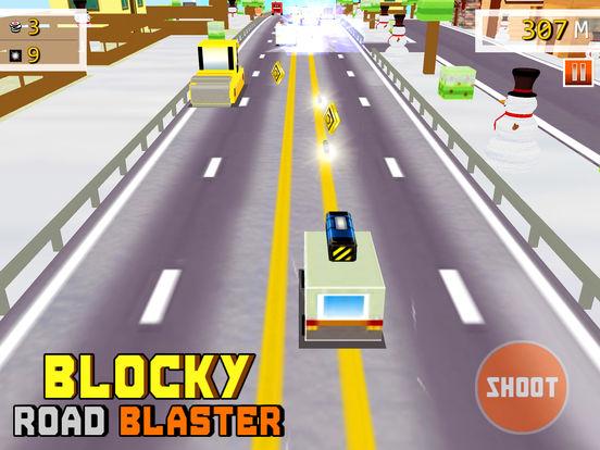 Скачать Blocky Road Blaster - 3D ( Fun Race & Shoot Game )