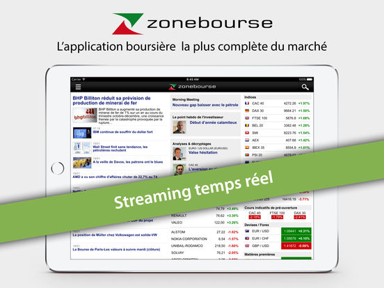 Zone Bourse iPad Screenshot 1