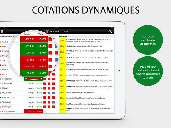 Zone Bourse iPad Screenshot 5