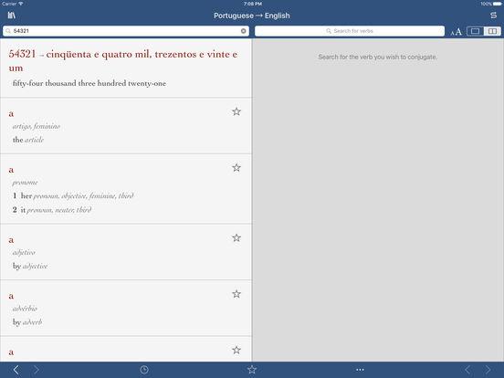 Portuguese-English Translation Dictionary by Ultralingua iPad Screenshot 3