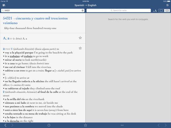 Collins Pro Spanish-English Translation Dictionary iPad Screenshot 3