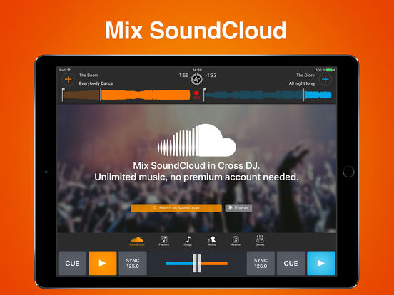 Screenshots of Cross DJ Free - Mix your music for iPad